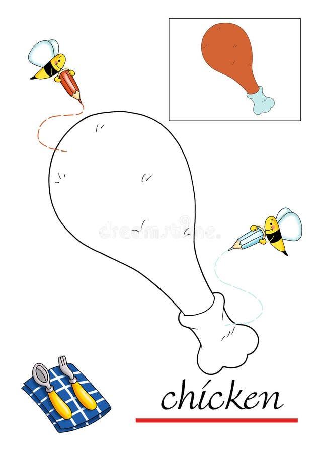 красить 3 детей книги иллюстрация штока
