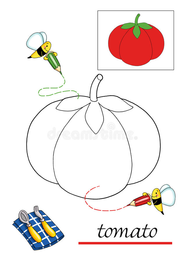 красить 4 детей книги иллюстрация вектора