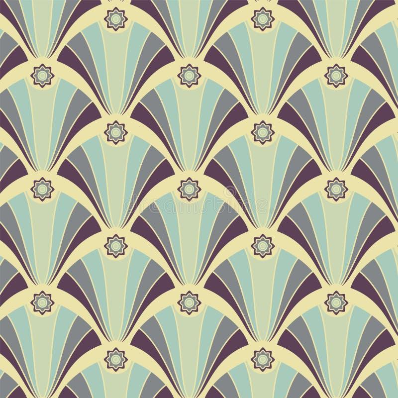 красит желтый цвет геометрической картины безшовный лиловый иллюстрация штока