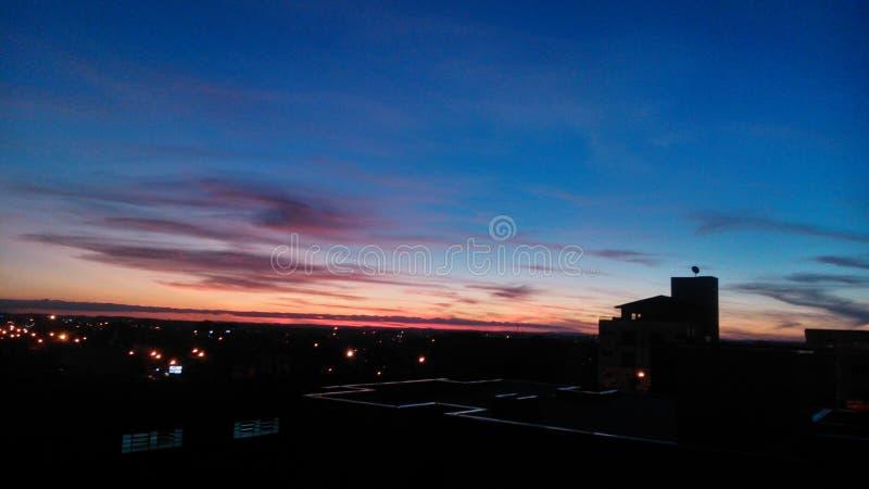 красит заход солнца стоковая фотография rf