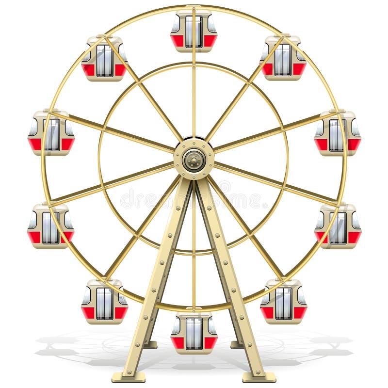 красит колесо вектора светов ferris бесплатная иллюстрация
