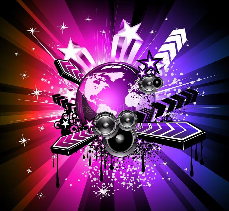 красит радугу рогек discotheque иллюстрация штока