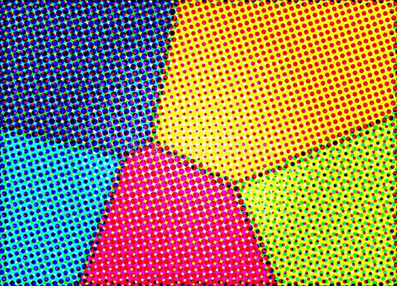 красит halftone стоковые изображения
