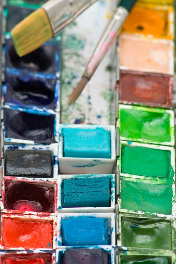 краска коробки стоковые изображения rf