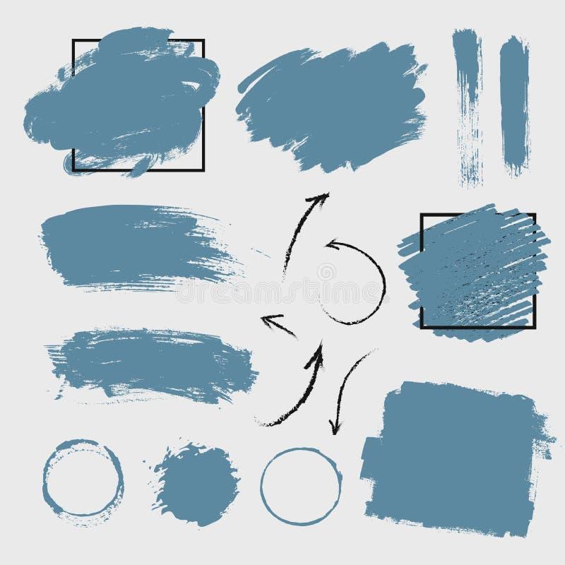 Краска мазка иллюстрации вектора имитационные и рук-чертеж стрелок стоковое фото
