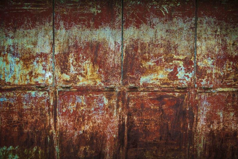 краска металла предпосылки слезая ржавую белизну текстуры стоковые изображения rf
