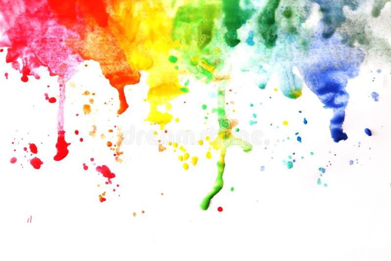 Краска на листе бумаги стоковые фотографии rf