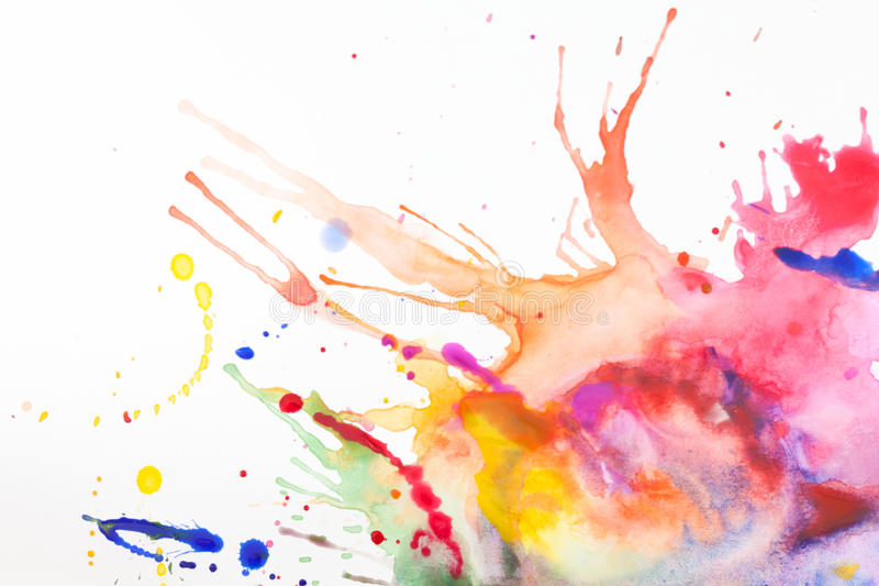 Краска на листе бумаги стоковое изображение rf