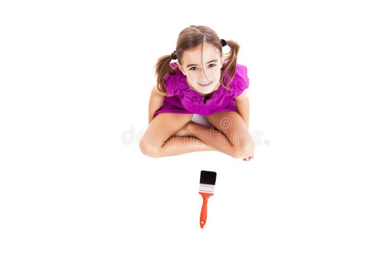 краска ребенка щетки стоковые изображения