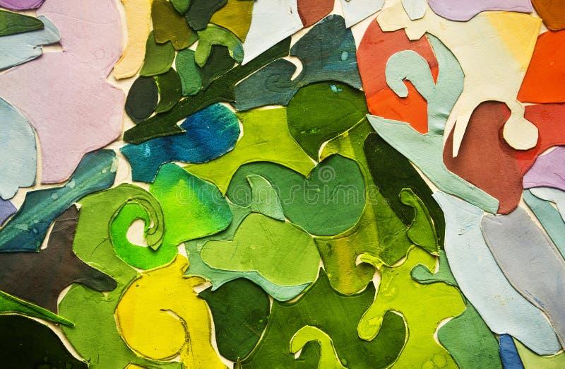 краска цвета коллажа абстрактного искусства иллюстрация вектора