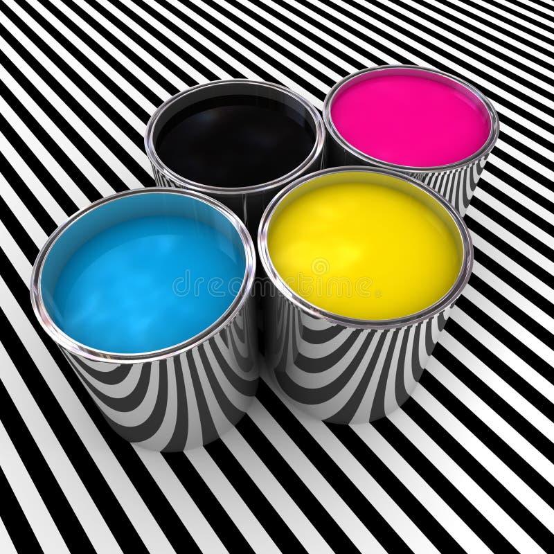 краска цвета cmyk предпосылки бесплатная иллюстрация