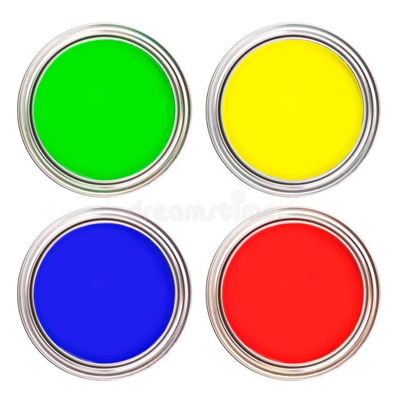 краска чонсервных банк 4 стоковые изображения