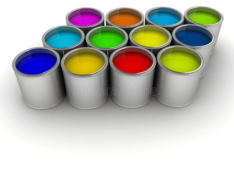 краска чонсервных банк стоковая фотография rf