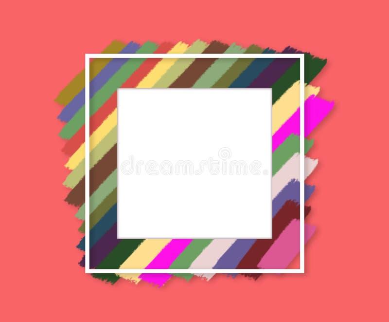 Краска щетки искусства логотипа Иллюстрация плаката хода первоначального дизайна предпосылки текстуры краски искусства щетки grun иллюстрация штока