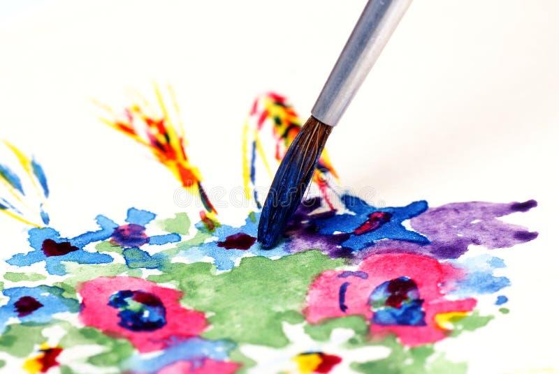 краска щетки стоковое изображение
