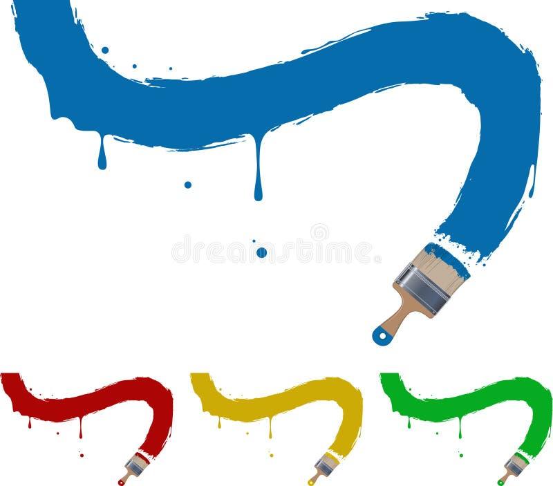 краска щетки иллюстрация вектора