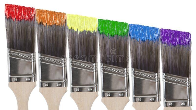 краска щеток стоковые фотографии rf