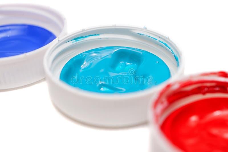Краски изолированные на белизне стоковые изображения
