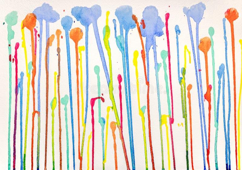 Краски пропускают вниз на грубой бумажной текстуре r стоковая фотография