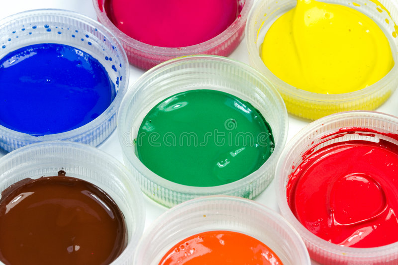 краски стоковое изображение