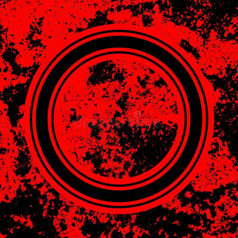 Красная абстрактная предпосылка с реалистической текстурой Grunge стоковые изображения rf