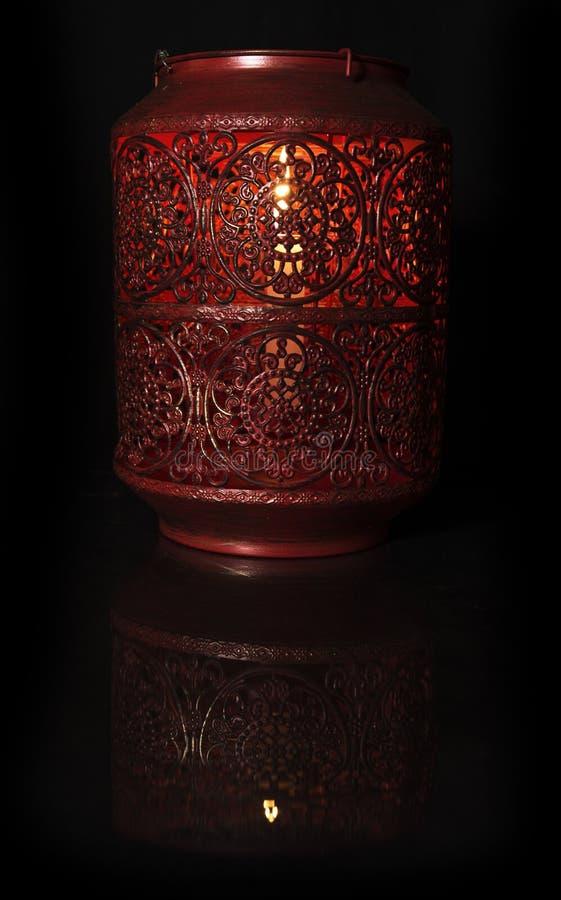 Красная лампа свечи стоковые изображения