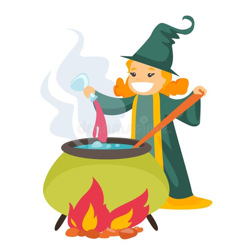 Картинка ведьма варит зелье в котле