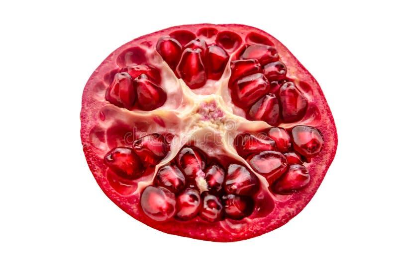 Красная вениса в отрезке с зернами на белой изолированной предпосылке стоковые изображения