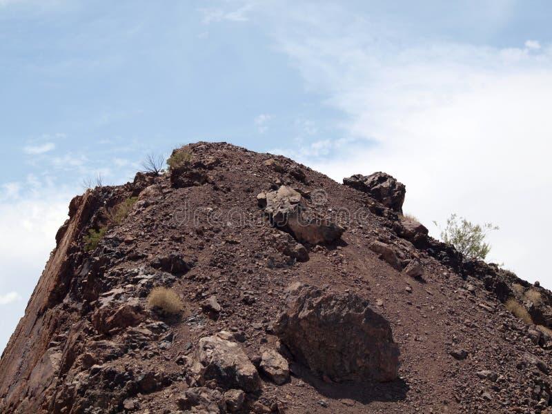 Красная вершина холма утеса стоковые фотографии rf