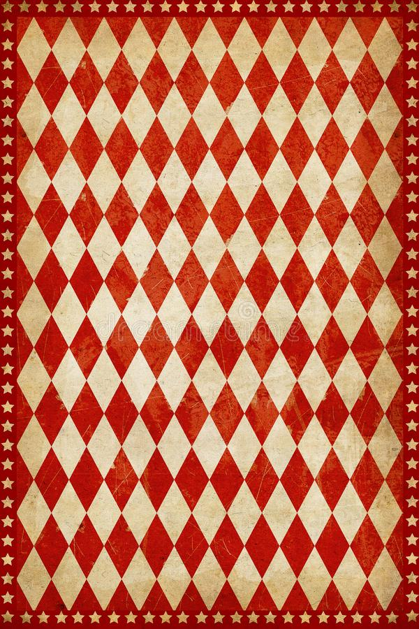 Красная винтажная предпосылка плаката цирка бесплатная иллюстрация