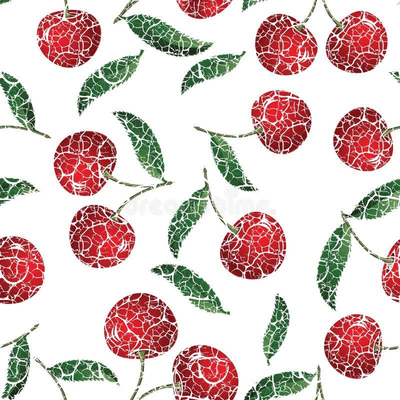 Красная вишня иллюстрация вектора