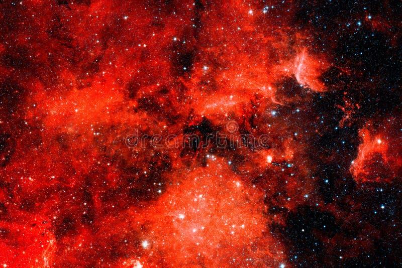 Красная галактика Элементы этого изображения поставленные NASA стоковые фото