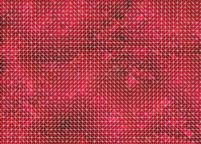Красная геометрическая предпосылка с рамкой провода иллюстрация вектора