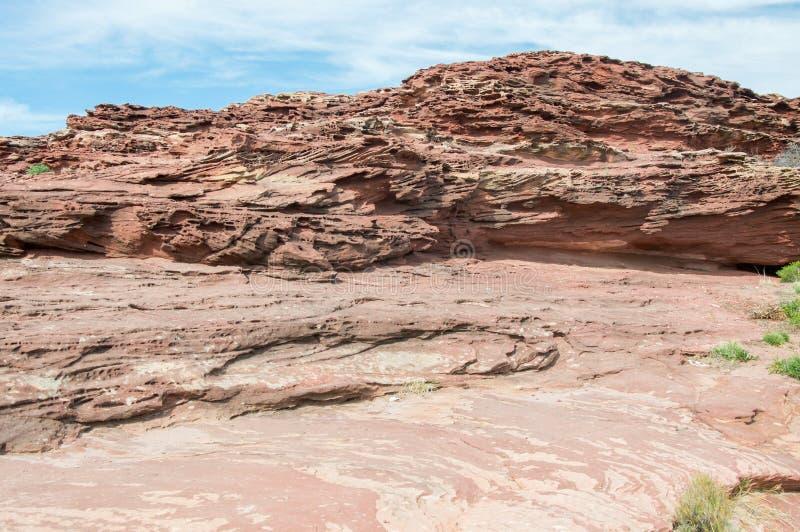Красная геология блефа стоковые фотографии rf