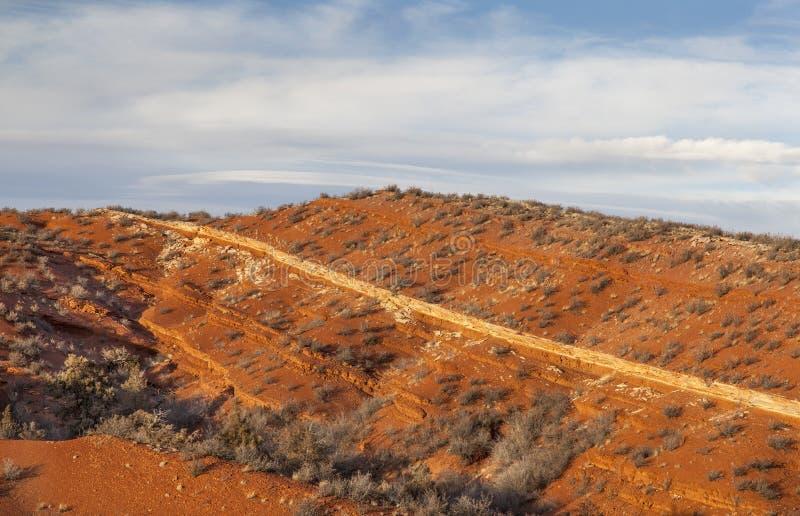 Красная гора в Колорадо стоковые изображения rf