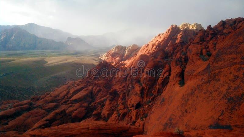Красная гора утеса стоковые фотографии rf