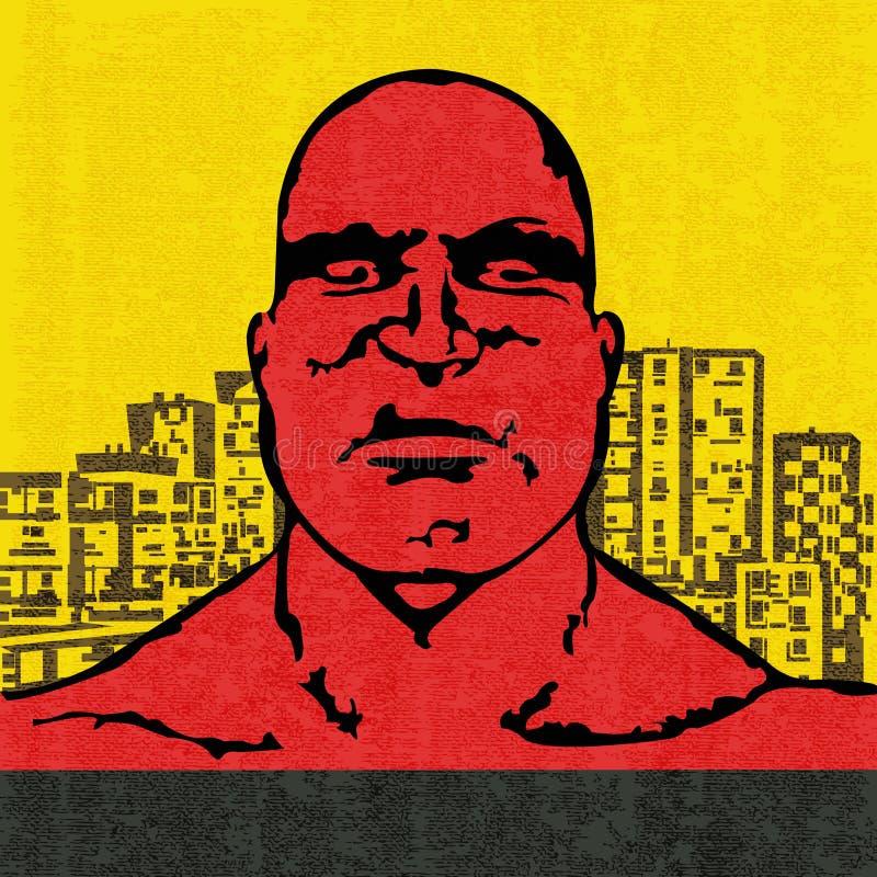 Красная голова иллюстрация штока