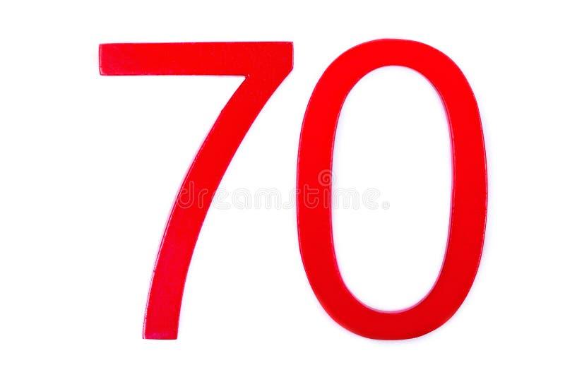 Красная диаграмма 70 на белой предпосылке иллюстрация вектора