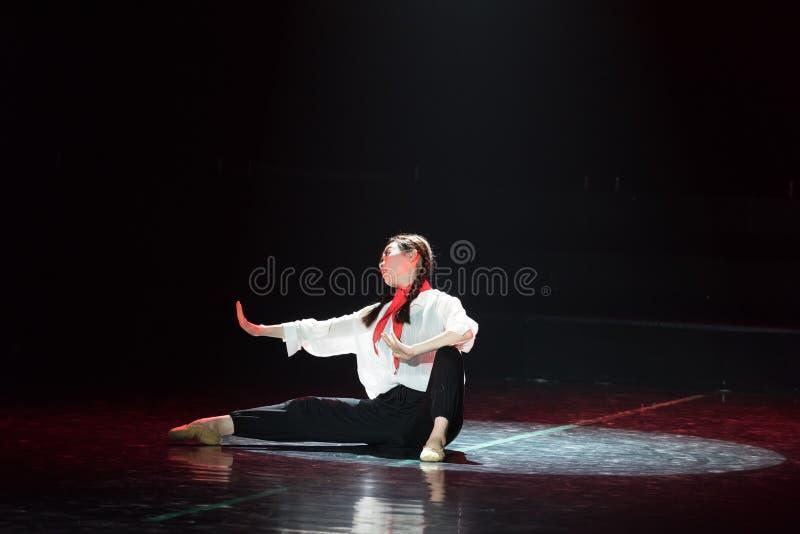 Красная драма танца шарфа 10-Lilac стоковое изображение rf