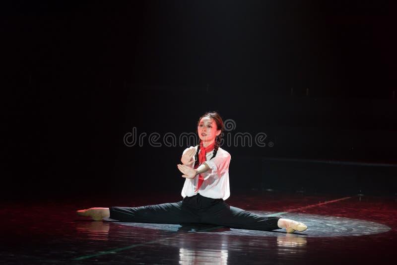 Красная драма танца шарфа 11-Lilac стоковая фотография rf