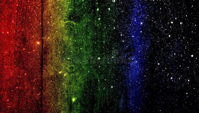 Красная желтая зеленая чернота и голубым текстурированная ярким блеском предпосылка r стоковое изображение rf