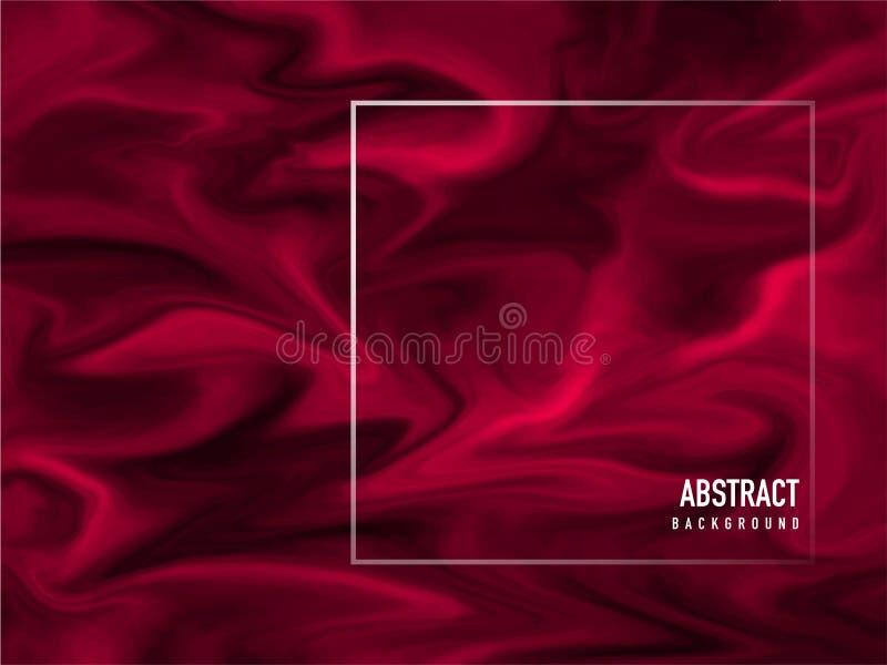 Красная жидкостная подача или акриловый крася конспект иллюстрация штока