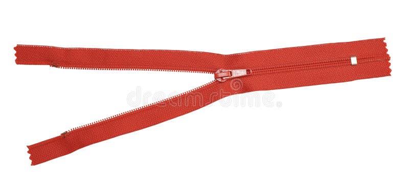 красная застежка -молния стоковое изображение rf