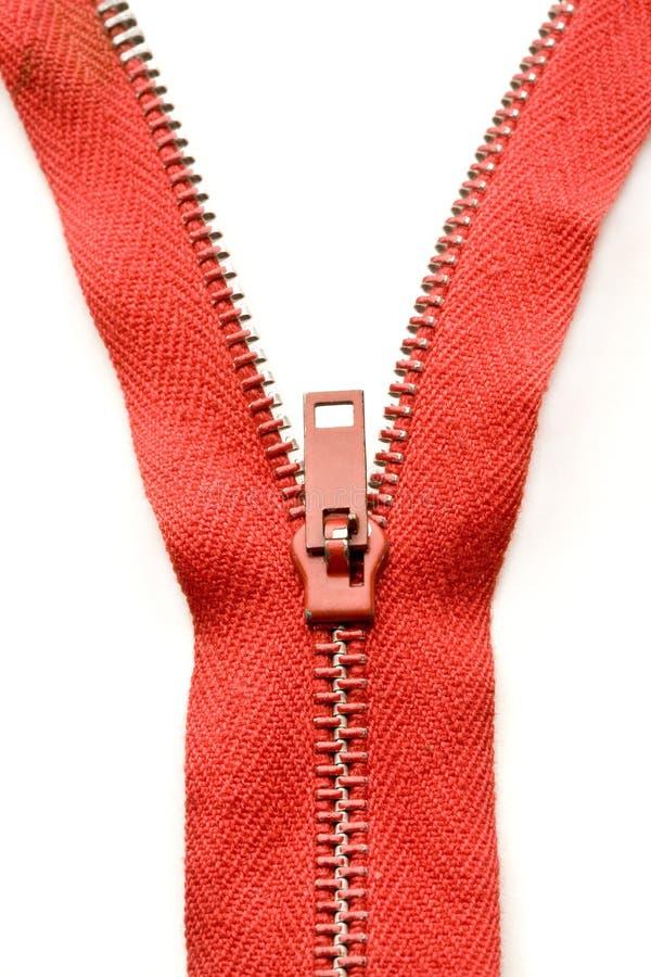 красная застежка -молния стоковая фотография rf