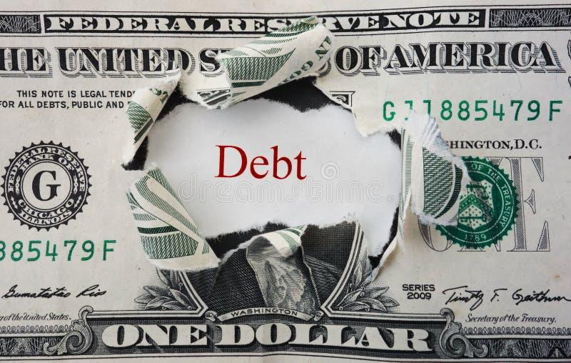 Красная задолженность стоковые фото