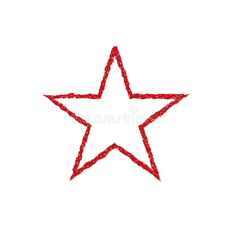 Красная звезда grunge крови иллюстрация штока