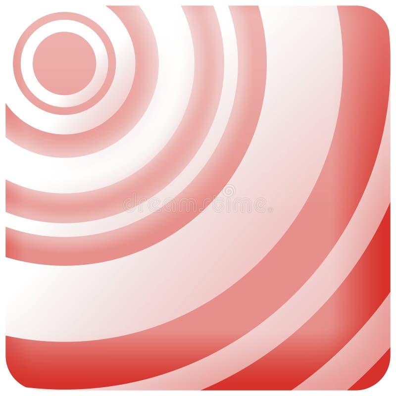 красная звуколокация стоковые изображения