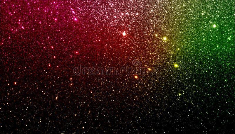 Красная зеленая и черная затеняемая предпосылка текстурированная ярким блеском r стоковые фото