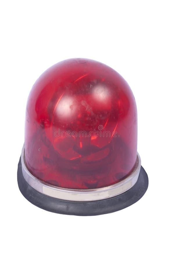 Красная изолированная сирена стоковая фотография rf