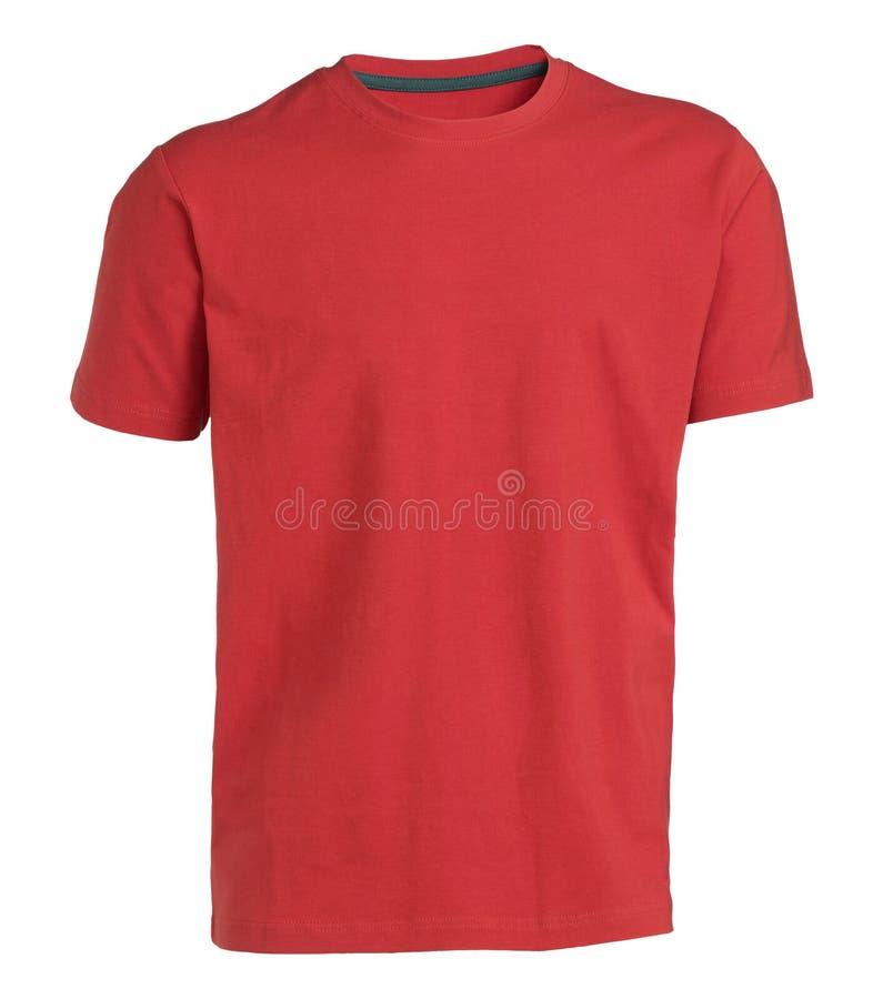 Красная изолированная тенниска стоковое изображение